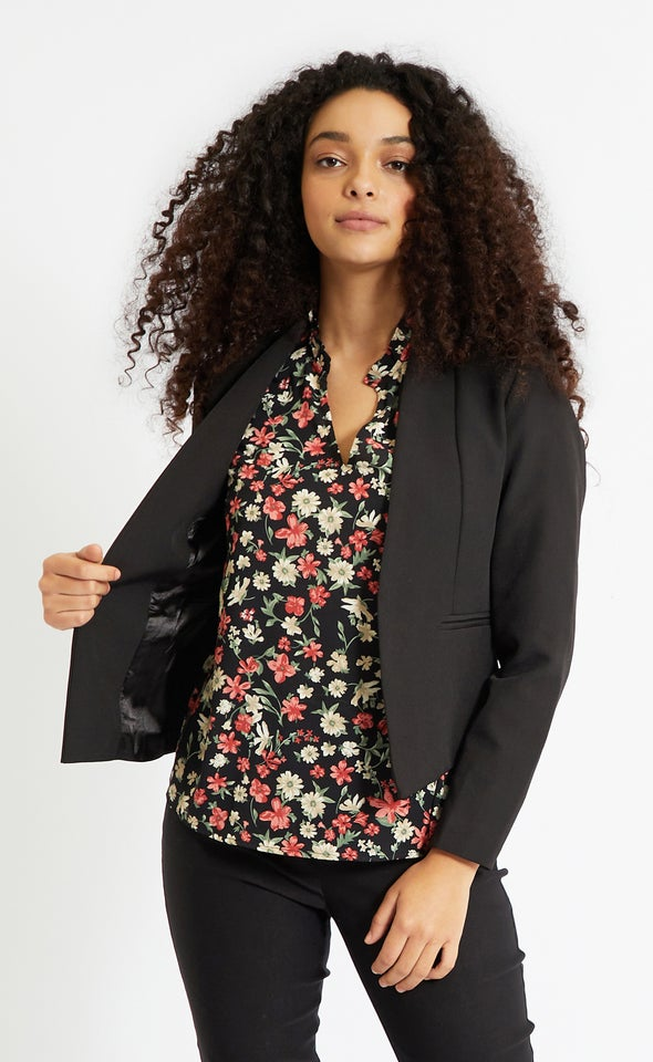 Suiting Open Blazer Black