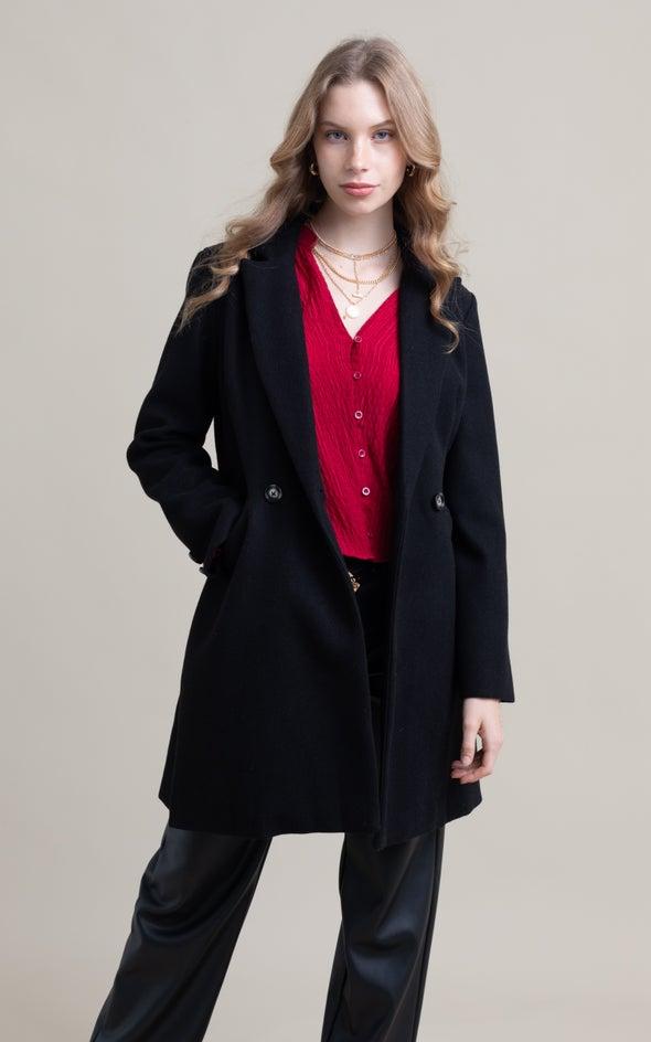Tailored Coat Black