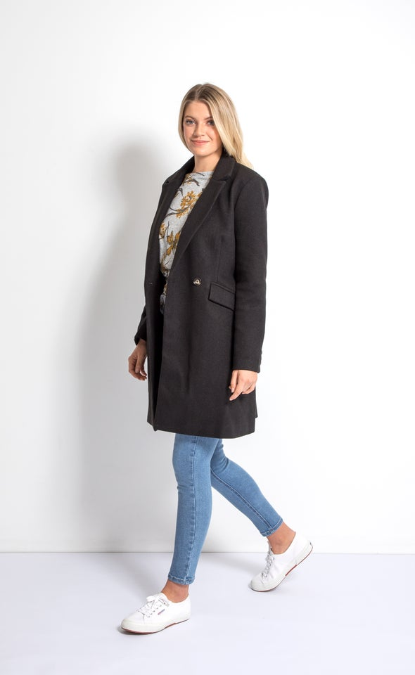 Tailored Coat Black