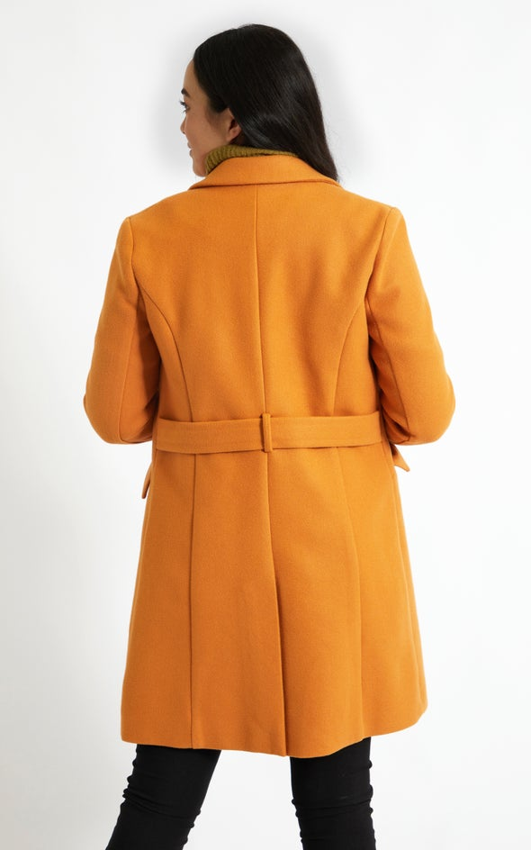 Tailored Coat Ochre