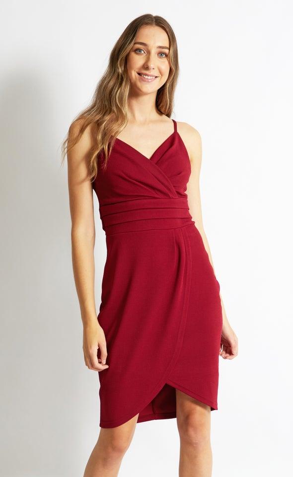 Textured Knit Pleated Dress