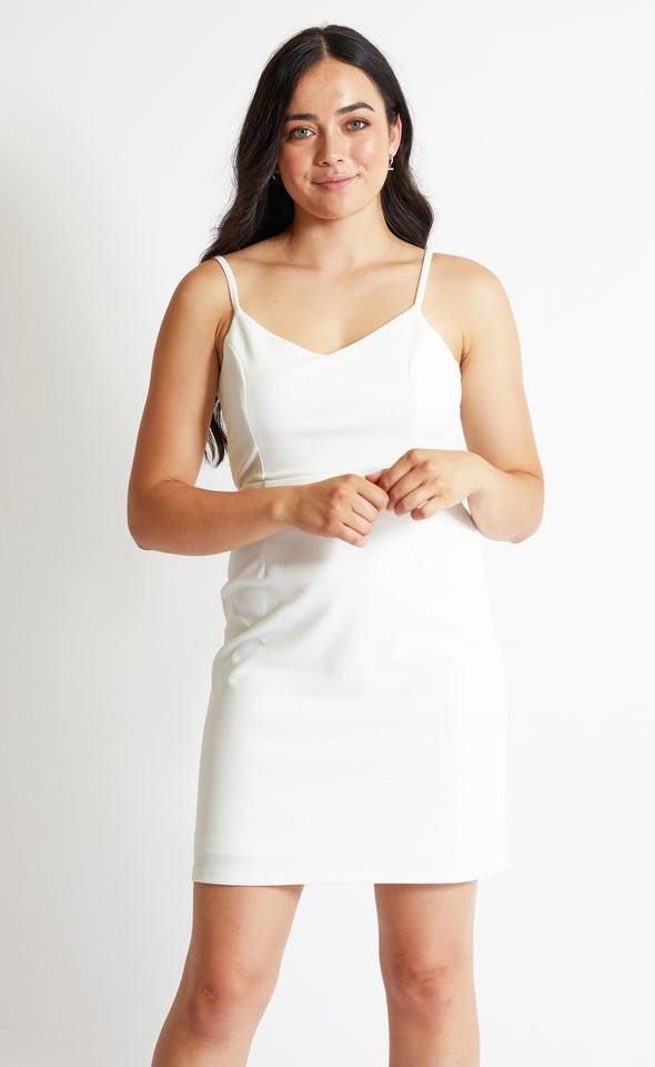 Textured Scuba Tie Back Dress