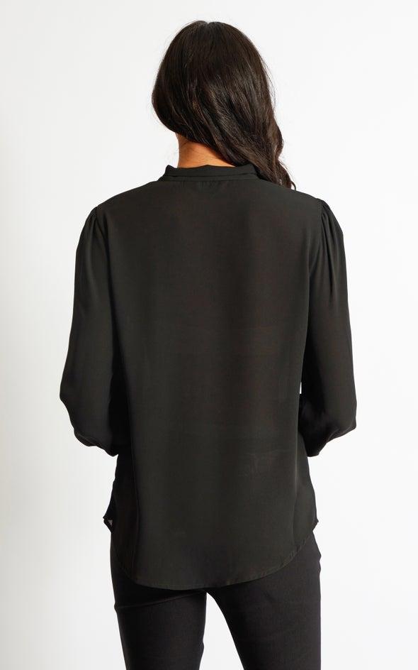 Tie Detail Shirt Black