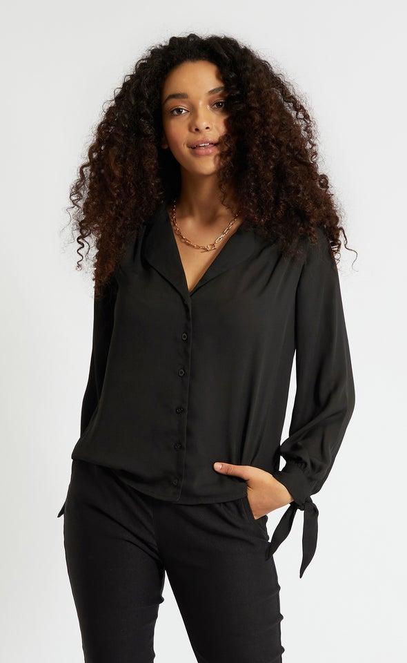 Tie Sleeve CDC Shirt Black