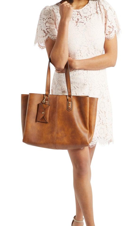 Triple Pocket Shoulder Bag