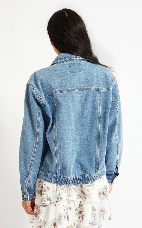 Utility Denim Jacket Blue