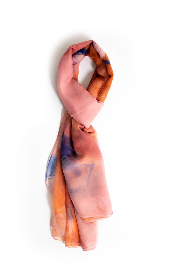 Water Colour Print Scarf