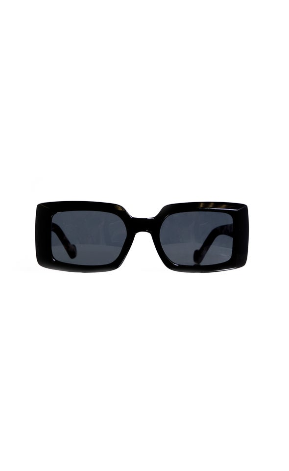Wide Frame Sunglasses Black