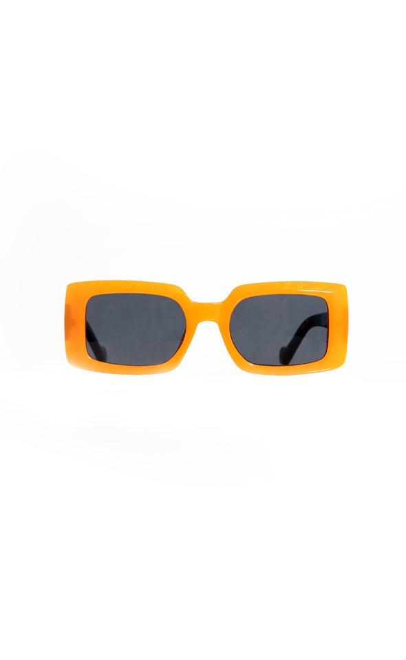 Wide Frame Sunglasses Orange