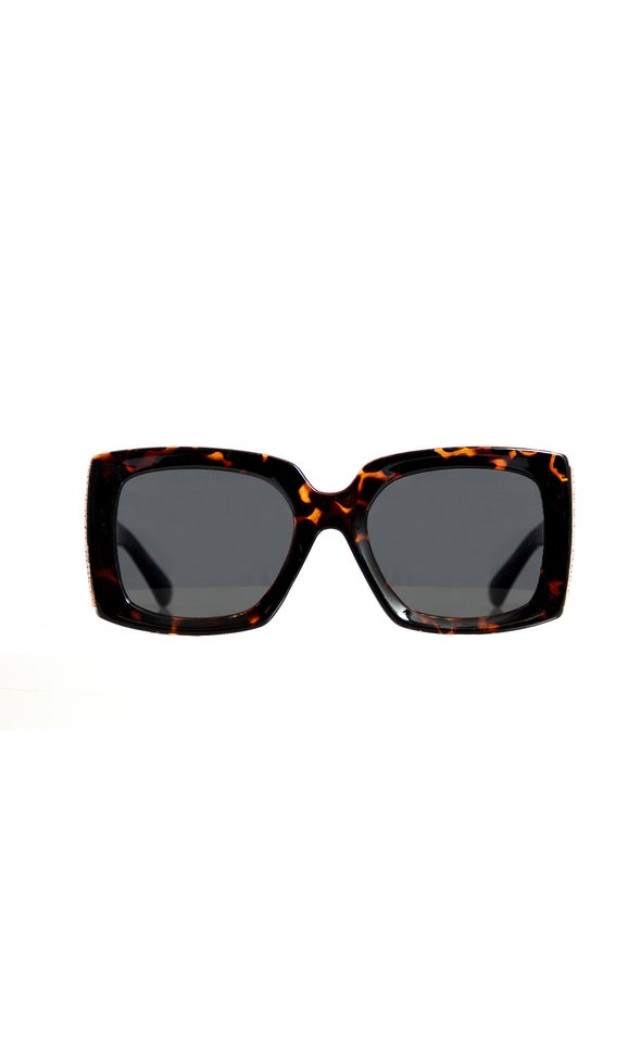 Wide Frame Sunglasses Tortoiseshell