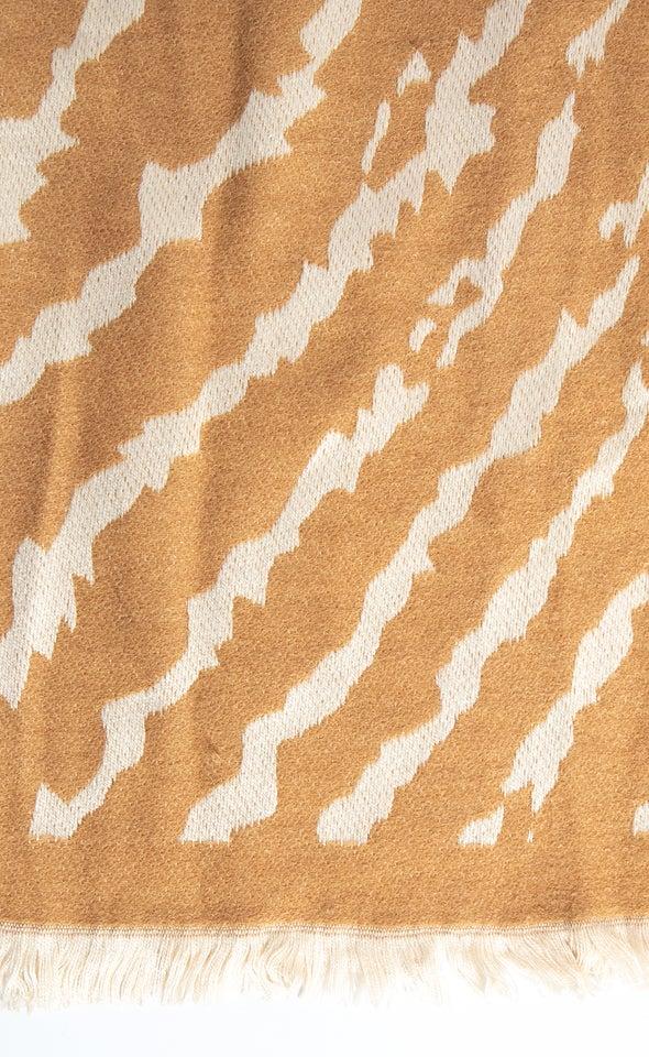 Zebra Print Scarf Beige/cream